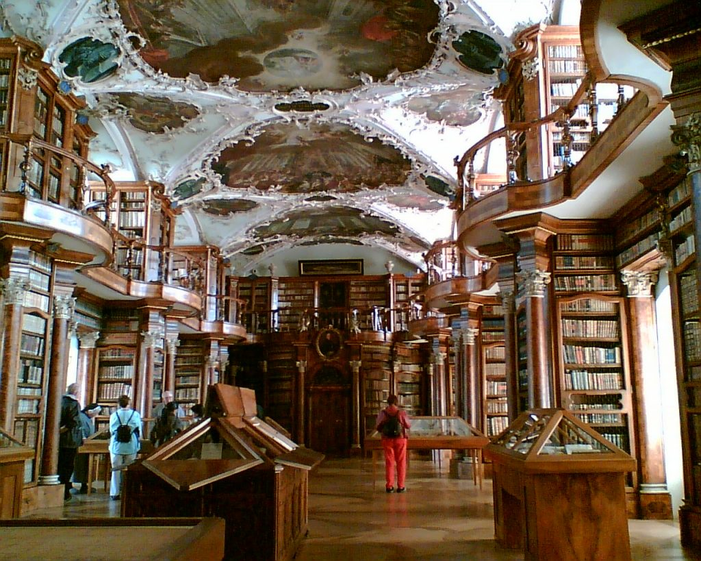 inside of the abbey library of st gall
